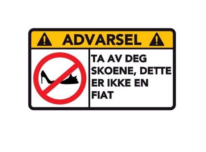 Bilde av Advarsel Dette Er Ikke En Fiat