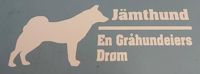 Bilde av Jamthund En Gråhundeiers Drøm Hvit Klistremerke